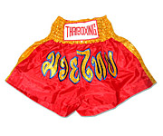 Muay Thai Shorts : Red - Gold