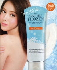 Mistine : Snow Frozen Whitening Sunscreen Body Lotion.