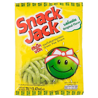 Snackjack : Green Pea Snack Set of 3