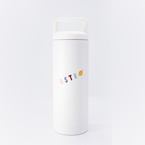 Astro : Cartoon Logo Tumbler - White