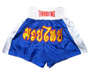 Muay Thai Shorts : Blue - White