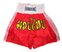 Muay Thai Shorts : Red - White