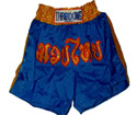 Muay Thai Shorts : Blue - Gold