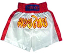 Muay Thai Shorts : White - Red