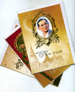 Cards : His Majesty King Bhumibol Adulyadej : Happy New Year Cards [Set of 3]