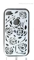 iPhone 4 / 4S : Rose Protection Shell [White]