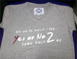 Yes Or No 2 : Come Back to me - T-Shirt (Grey) - Size L