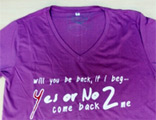 Yes Or No 2 : Come Back to me - T-Shirt (Purple) - Size L