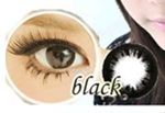 Sweety : Big Eyes Sofety Black 0.00 Contact Lens