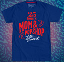 25 hours MOM & POPSHOP : Blue T-Shirt - Size M