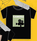 Theory Of Love : Camera T-Shirt - Size S