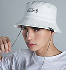Velence : Chain Bucket Hat - White