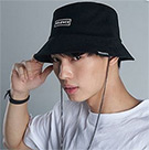 Velence : Chain Bucket Hat - Black