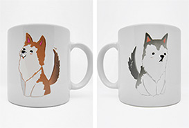 Oxygen the Series : Husky Couple Mugs