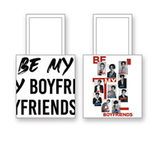 Boyfriends : White Tote Bag
