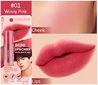 Cathy Doll : Mini Lip & Cheek Nude Matte Tint - No.1 Winny Pink