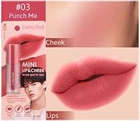 Cathy Doll : Mini Lip & Cheek Nude Matte Tint - No.3 Punch Me