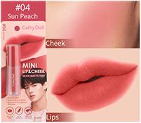 Cathy Doll : Mini Lip & Cheek Nude Matte Tint - No.4 Sun Peach
