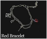 Kerrist : Black Valentines Bracelet - Red