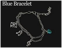 Kerrist : Black Valentines Bracelet - Blue