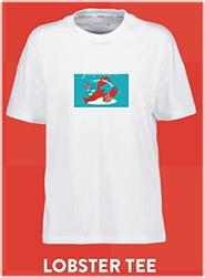 A Jenim Tee X Gulf - Lobster Tee White Size XS