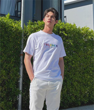 Velence : Tshirt - Live in Color White Size XS