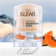 DeoKlear : Mineral Deodorant Stick - Skin Bright