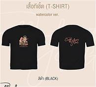 Saintsup : Watercolor T-shirt - Black Size S