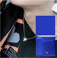 Kerrist : Turn Up A Card - Necklace (White)