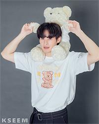 K SEE M : Bearby Nhom-tuay 01 T-shirt - White