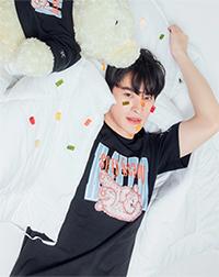 K SEE M : Bearby Nhom-tuay 02 T-shirt - Black