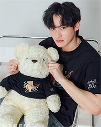 K SEE M : Bearby Nhom-tuay 03 T-shirt - Black