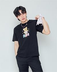 K SEE M : Bearby Nhom-tuay 04 T-shirt - Black