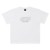 Astro : Outline Logo Oversized Tshirt - White Size S