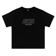 Astro : Outline Logo Oversized Tshirt - Black Size S