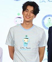 Cocoon Stripe T-shirt : Blue - Size S