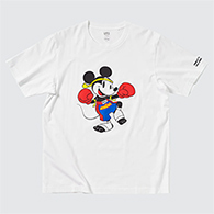Uniqlo : Mickey Mouse in Thailand - Muay Thai T-shirt - White Size S
