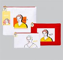 Krist : Portrait Art Series - Clutch Bag