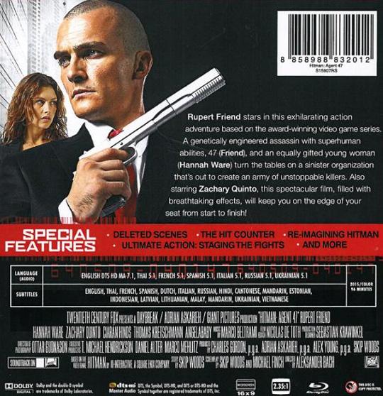 Hitman Agent 47 Blu Ray Steelbook